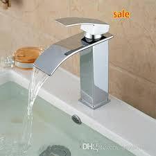 Bathroom Faucets Waterfall Wholesale Deck Mount Waterfall Bathroom Faucet Vanity Vessel Sinks