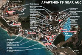 St Maarten Map Apartments Near Auc Diary Of A Caribbean Med Student