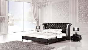 Black Modern Bedroom Furniture Platform Bedroom Furniture Set With Leather Headboard 135 Xiorex