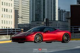 Ferrari 458 Matte Black - rosso fuoco opaco and bianco ferrari 458 italia duo with vossen
