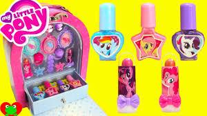 my little pony makeup case nail polish lip gloss surprises youtube