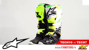 alpinestar motocross gear bottes motocross alpinestars tech10 vs tech 7 youtube