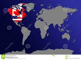 Canada World Map by World Map With Flags Stock Photo Image 86310