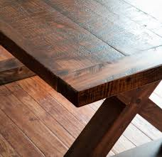 Plank Dining Room Table Rough Sawn Barnwood Kitchen Table U2014 Vale Lorin Bruck Design