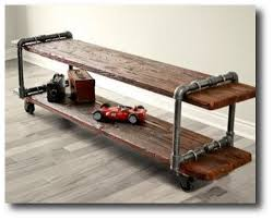 wood and pipe table diy kids industrial pipe furniture ideas