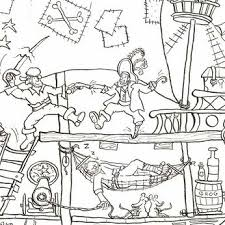 pirate ship colouring poster giant posters