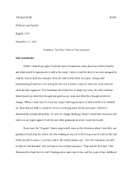 narrative essay outline exle family history essay exles sponsors of literacy essay