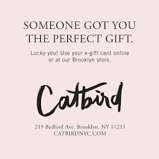 online gift certificates electronic gift certificate catbird