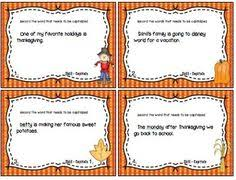 irregular plural nouns task cards for thanksgiving irregular