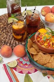 jose cuervo mango peach teagaritas and mango peach salsa porch sittin frog prince