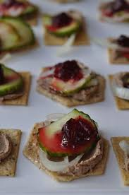 pate canapes cranberry pate pickled cucumber canapes gimme the