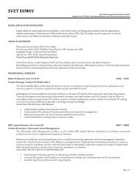 exle resume for application excel vba developerume exles template definitions words sle