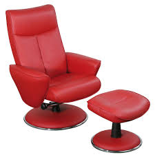 Swivel Chair And Ottoman Chair Furniture Red Leather Chair Waycross Chili Stupendous