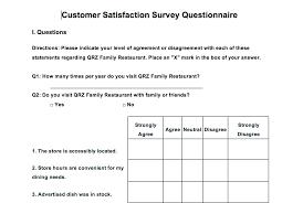satisfaction survey iso template free customer saneme