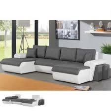 canape angle bi matiere canapé d angle panoramique convertible bi matière gris et blanc