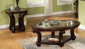 Glass End Tables For Living Room Traditional Living Room With Perseus Glass Top Wooden Coffee Table