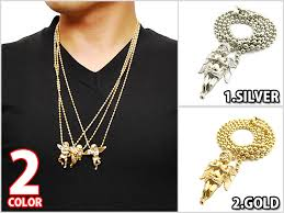 angel necklace pendant images Solt and pepper rakuten global market back in stock 2 color jpg