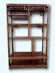 Rattan Bookcase Rattan Multi Level Shelving Unit Chinese Chippendale Fretwork