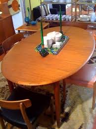 oval teak dining table gallery vintage danish modern teak dining table photo