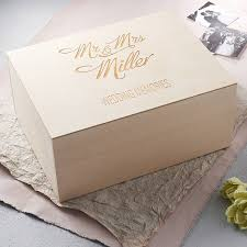 wedding keepsake box large personalised wedding keepsake box by