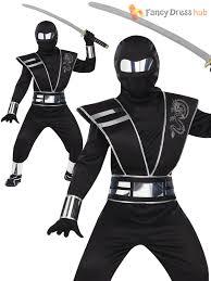 Halloween Ninja Costumes Deluxe Boys Ninja Costume Kids Samurai Martial Art Halloween Fancy