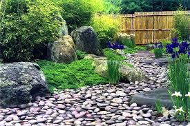 River Rock Garden Bed Rock Garden Bed Beautiful River Rock Landscaping Home Decor