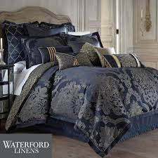 Comforter Sets Images Vaughn Navy Comforter Bedding By Waterford Linens