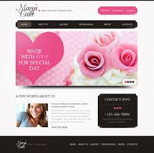 wedding cake websites wedding cake psd template 41769