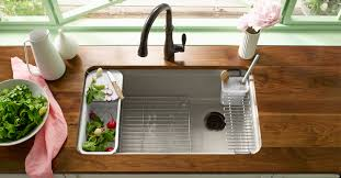 Riverby Kitchen Sinks Kitchen New Products Kitchen KOHLER - Kohler corner kitchen sink