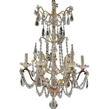 French Wire Chandelier Antique 6 Light French Gilt Brass And Crystal Chandelier From Tolw