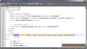Bootstrap Table Class How To Use Tables With The Bootstrap Framework Youtube