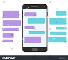 chatbot whatsapp chat bot text message stock vector 654712237