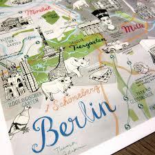 Berlin Germany Map by Berlin Map Germany Map Berlin Print Berlin Art Quirky