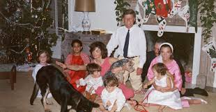the kennedy family at white house on christmas 1962 vintage