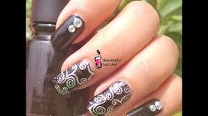 how to apply holographic laser silver lace transfer foil nail art