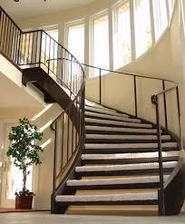 custom curved stair builders free floating carpeted stairs