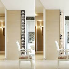 Door Decals For Home by Fashion Acrylic 3d Mirror Wall Sticker Flower Wall Decals Living