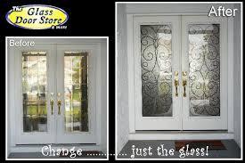 Exterior Glass Door Inserts Brighton Satin Silver Traditional Glass Door Insert The Glass