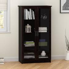 Storage Bookcase With Doors Ameriwood Home Quinton Point Glass Door Bookcase