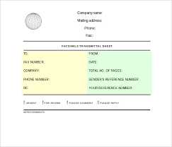 professional fax cover sheet u2013 10 free word pdf documents