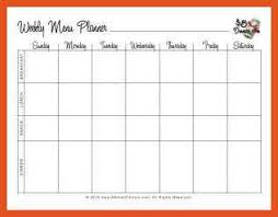 blank menu templates free 5 6 weekly meal planner titleletter