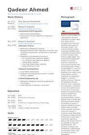 Phd Candidate Resume Sample by Doctor Resume Samples Visualcv Resume Samples Database