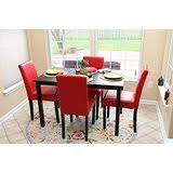 Amazoncom Red Kitchen  Dining Room Furniture  Furniture - Red kitchen table and chairs