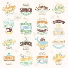 retro elements for summer calligraphic designs vintage ornaments