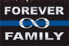 blue line forever family infinite decal