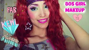 80 u0027s halloween makeup tutorial youtube