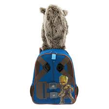disney rocket raccoon hooded backpack for kids guardians of the