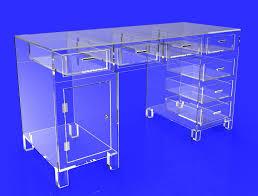 Clear Acrylic Desk Table Clear Acrylic Plexiglass Executive Desk Hotel Lobby Boutique