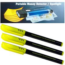 uv marker and light 1 x uv lamp light portable fake money detector with torch 3 x