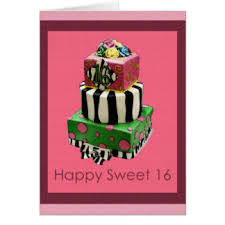 sweet 16 greeting cards zazzle